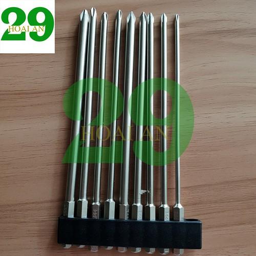 Bộ 9 mũi tô vít 4 cạnh dài 150 mm cho khoan pin điện hãng BROPPE