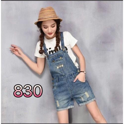 Quần yếm jean nữ cute
