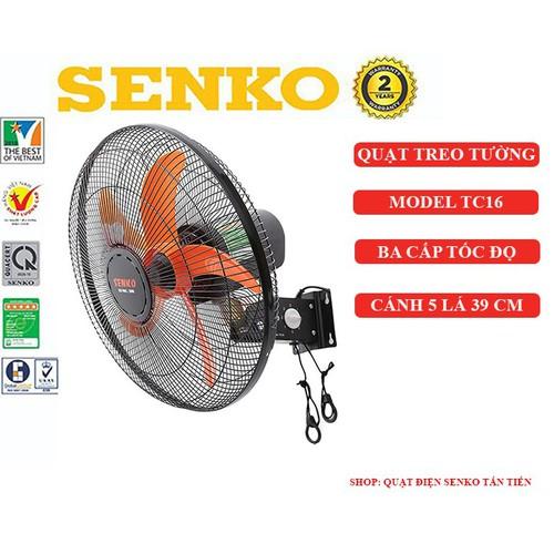 Quạt treo tường Senko TC16 chính hãng - 7019203 , 16961156 , 15_16961156 , 350000 , Quat-treo-tuong-Senko-TC16-chinh-hang-15_16961156 , sendo.vn , Quạt treo tường Senko TC16 chính hãng