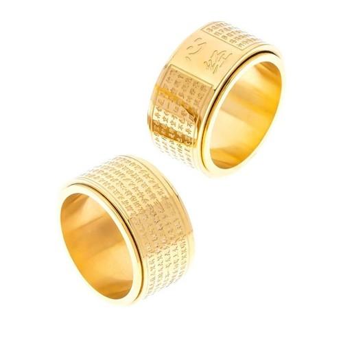 Nhẫn xoay bát nhã tâm kinh Vàng - 4613505 , 16958105 , 15_16958105 , 129000 , Nhan-xoay-bat-nha-tam-kinh-Vang-15_16958105 , sendo.vn , Nhẫn xoay bát nhã tâm kinh Vàng