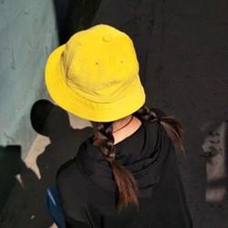 Mũ bucket, tai bèo vàng trơn Maruko