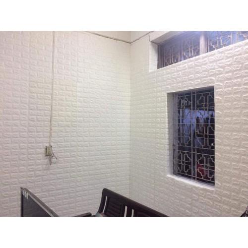 Xốp dán tường 3D màu trắng _10 tấm