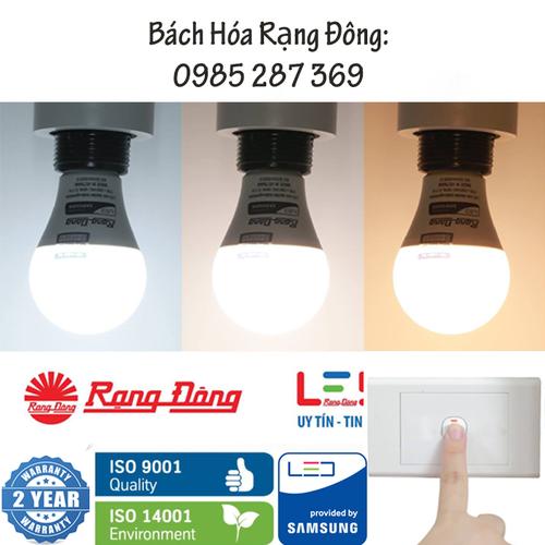 Bóng LED Bulb Đổi 3 Màu 9W Rạng Đông, Samsung ChipLED