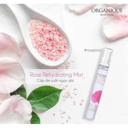 Xịt khoáng dưỡng ẩm hoa hồng Organique by Olinda Spring
