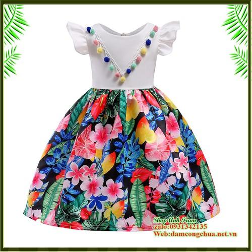 Đầm công chúa bé gái in hoa 3D - 11413151 , 16959890 , 15_16959890 , 280000 , Dam-cong-chua-be-gai-in-hoa-3D-15_16959890 , sendo.vn , Đầm công chúa bé gái in hoa 3D