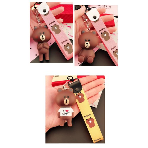 Combo 2 Móc khóa gấu kute siêu dễ thương