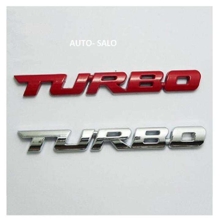 Logo Turbo trang trí xe ô tô 2
