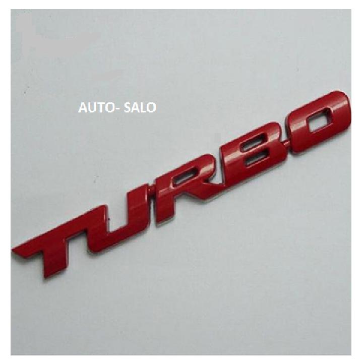 Logo Turbo trang trí xe ô tô 5