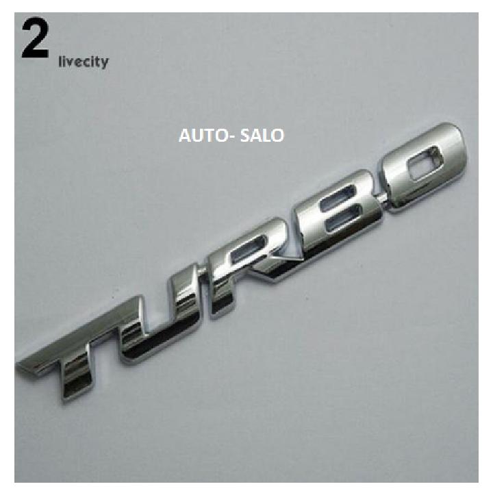 Logo Turbo trang trí xe ô tô 3