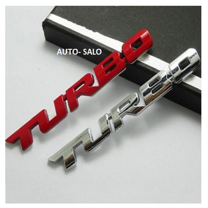 Logo Turbo trang trí xe ô tô 4