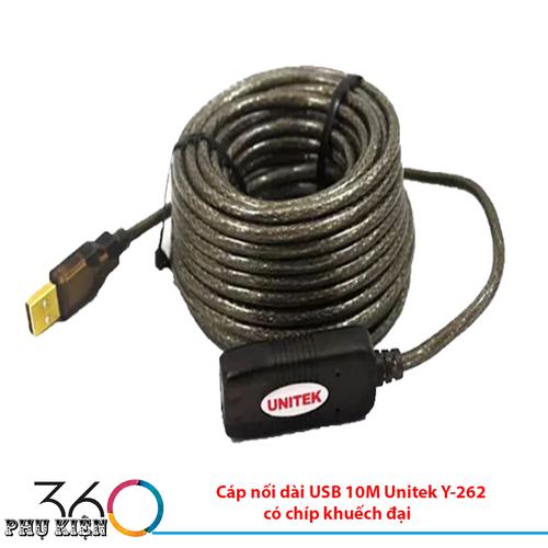 Cáp nối dài USB 10M Unitek Y-260 có chíp khuếch đại - 4612930 , 16954052 , 15_16954052 , 419000 , Cap-noi-dai-USB-10M-Unitek-Y-260-co-chip-khuech-dai-15_16954052 , sendo.vn , Cáp nối dài USB 10M Unitek Y-260 có chíp khuếch đại