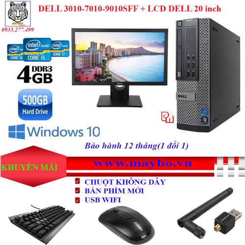 Máy Tính DELL Optiplex 3010-7010-9010**i3_4G_500G** + MÀN HÌNH LCD DELL 20 INCH-BẢO HÀNH 12 Tháng 1 đổi 1