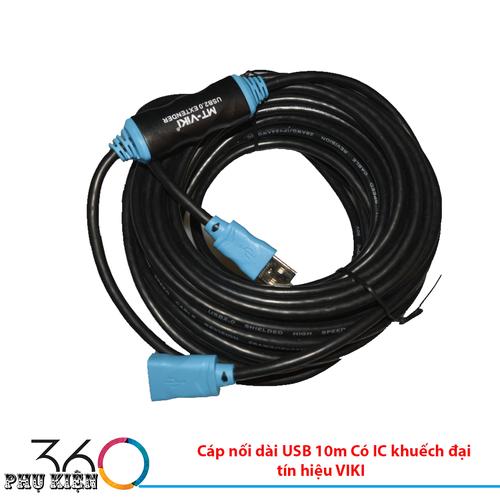 Cáp nối dài USB 10m Có IC khuếch đại tín hiệu VIKI - 4612886 , 16953984 , 15_16953984 , 299000 , Cap-noi-dai-USB-10m-Co-IC-khuech-dai-tin-hieu-VIKI-15_16953984 , sendo.vn , Cáp nối dài USB 10m Có IC khuếch đại tín hiệu VIKI