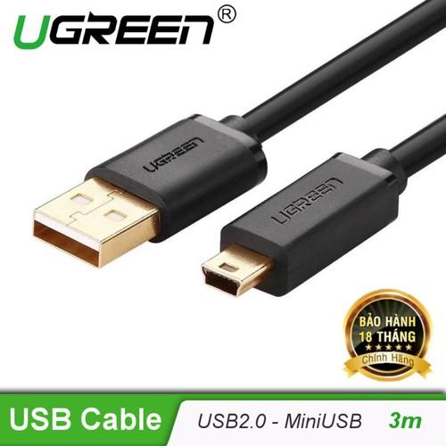Cáp sạc USB 2.0 sang mini USB mạ gold dài 3m UGREEN US132 10386 - đen - 7012754 , 16956750 , 15_16956750 , 150000 , Cap-sac-USB-2.0-sang-mini-USB-ma-gold-dai-3m-UGREEN-US132-10386-den-15_16956750 , sendo.vn , Cáp sạc USB 2.0 sang mini USB mạ gold dài 3m UGREEN US132 10386 - đen