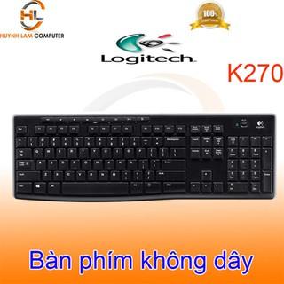 Phím không dây Logitech K270 wireless màu đen chính hãng - DGW phân phối - LKBP0037 thumbnail