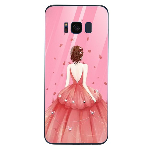 Ốp kính cường lực dành cho điện thoại Samsung S8 - cô gái váy hoa - cgvh008 - giá tốt