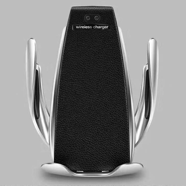 Sạc điện thoại không dây S5 kiêm kẹp điện thoải cảm biến tự động đóng mở 4