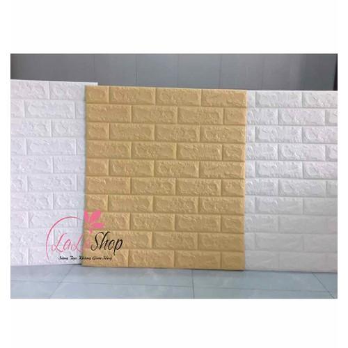 xốp dán tường giả gạch 3D màu vàng kem chống nóng hàng 6mm - 11116562 , 16969379 , 15_16969379 , 36000 , xop-dan-tuong-gia-gach-3D-mau-vang-kem-chong-nong-hang-6mm-15_16969379 , sendo.vn , xốp dán tường giả gạch 3D màu vàng kem chống nóng hàng 6mm