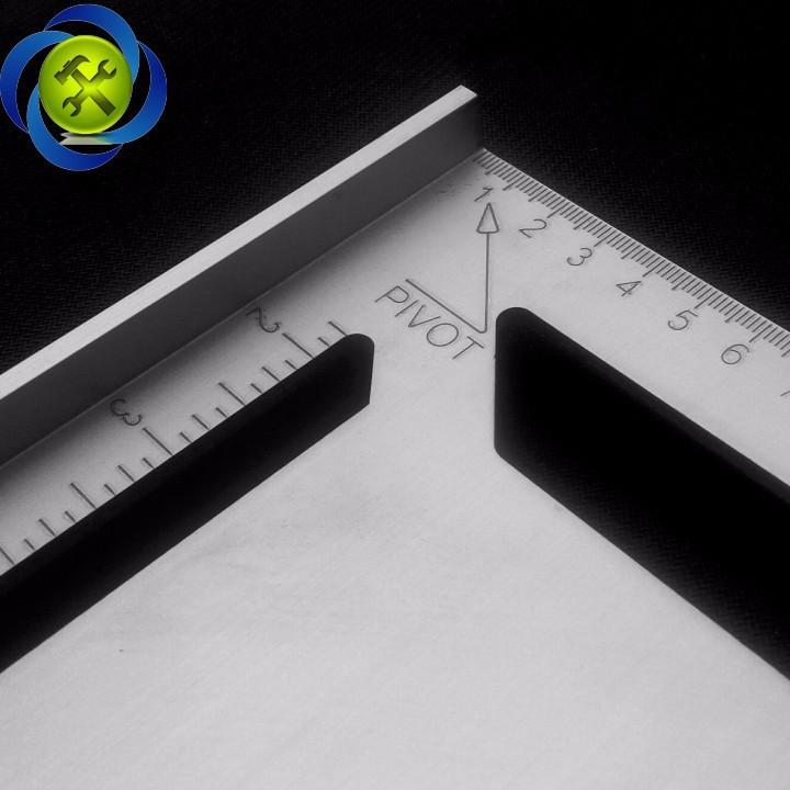 Thước tam giác nhôm lớn 300mm x 300mm x 430mm 2