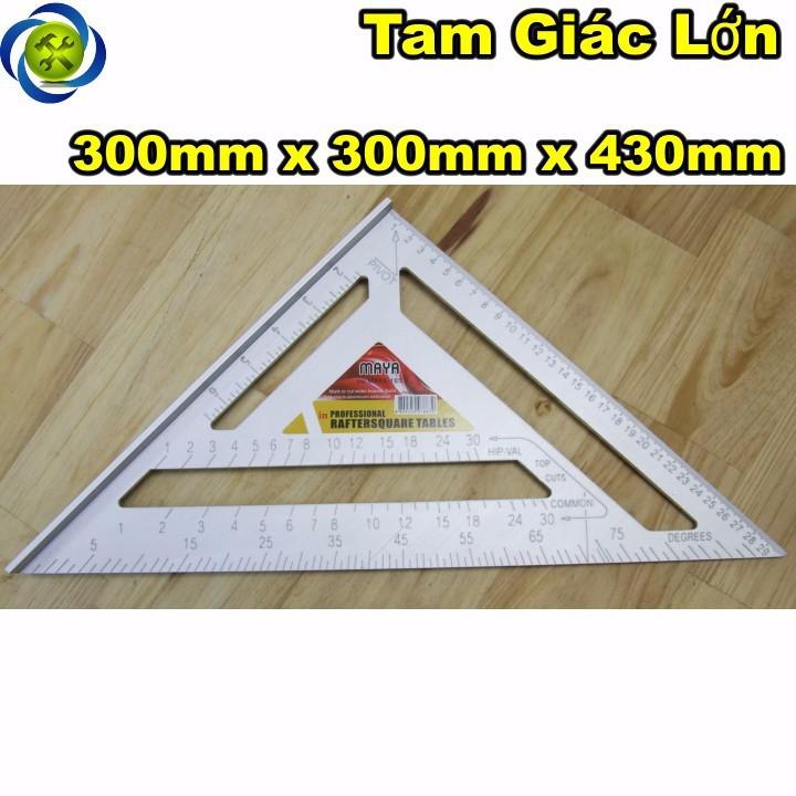 Thước tam giác nhôm lớn 300mm x 300mm x 430mm 1