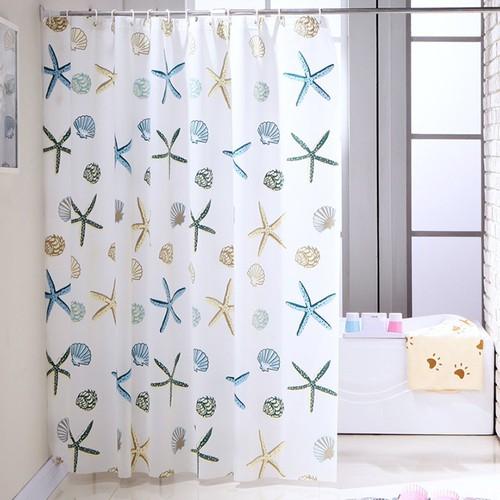 Rèm treo nhà tắm chống thấm sao biển