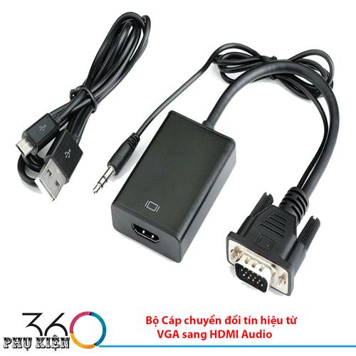 Bộ Cáp chuyển đổi tín hiệu từ VGA sang HDMI Audio
