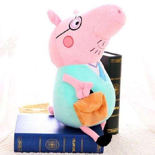 Gấu Bông Heo bông Peppa Pig-Daddy pig 30cm