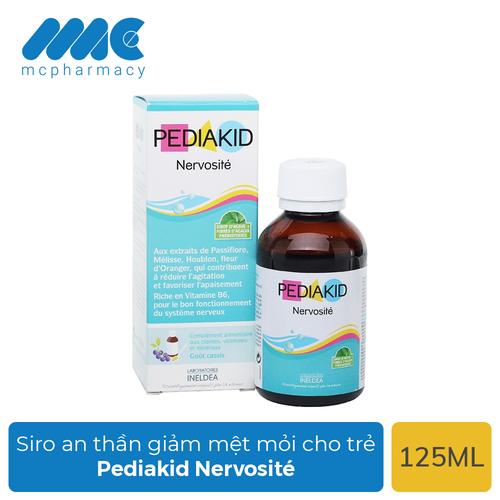 Siro Pediakid Nervosité an thần, giảm mệt mỏi, căng thẳng cho trẻ nhỏ - Chai 125ml