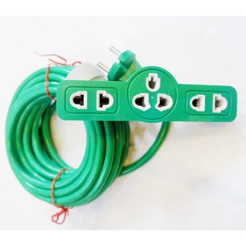 6m Dây điện ổ cắm điện Glet phi 1mm 2000w, siêu bền phù hợp nhu cầu gia dụng, dụng cụ điện cầm tay thông dụng