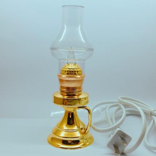 Cặp đèn dầu cắm điện bóng đèn LED cao 16 cm