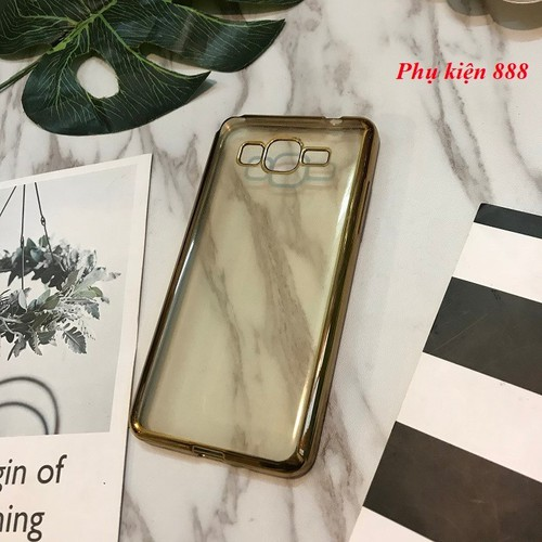 Ốp lưng Samsung Galaxy Grand Prime G530 silicon dẻo viền vàng