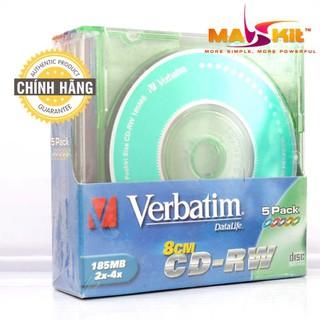 Bloc 05 đĩa 05 màu Verbatim CD-RW 185MB - Chính Hãng - MK-VB-43190-5PCS thumbnail