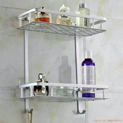 Kệ đựng đồ phòng tắm inox đa năng 2 tầng