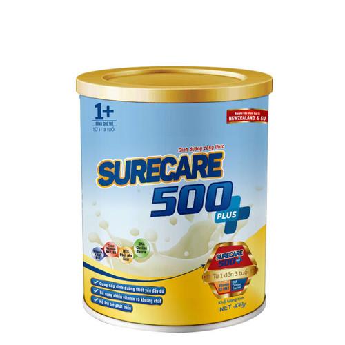 Sữa Surecare 500 Plus 1+ 400g dành cho trẻ biếng ăn phục hồi tăng trưởng