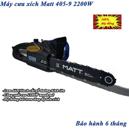 Máy Cưa Xích Dùng Điện MATT 405-9 Công Suất Lớn 2200W-Chính Hãng-BH 6 Tháng - 7049027 , 16977052 , 15_16977052 , 2200000 , May-Cua-Xich-Dung-Dien-MATT-405-9-Cong-Suat-Lon-2200W-Chinh-Hang-BH-6-Thang-15_16977052 , sendo.vn , Máy Cưa Xích Dùng Điện MATT 405-9 Công Suất Lớn 2200W-Chính Hãng-BH 6 Tháng