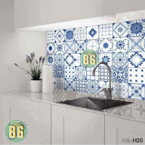 Decal gạch bông xanh dương dán bếp - 7052751 , 16978771 , 15_16978771 , 90000 , Decal-gach-bong-xanh-duong-dan-bep-15_16978771 , sendo.vn , Decal gạch bông xanh dương dán bếp