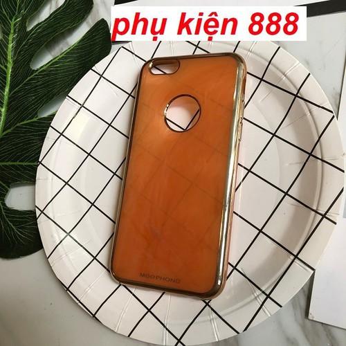 Ốp lưng Iphone 6,6s dẻo đá thạch anh viền vàng