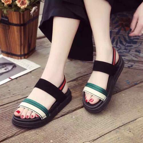 Giày sandal nữ đế bánh mì quai ngang xanh đỏ - 7083583 , 16993389 , 15_16993389 , 150000 , Giay-sandal-nu-de-banh-mi-quai-ngang-xanh-do-15_16993389 , sendo.vn , Giày sandal nữ đế bánh mì quai ngang xanh đỏ