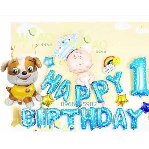 Set bóng trang trí sinh nhật Tuổi Tuất bé trai ms08