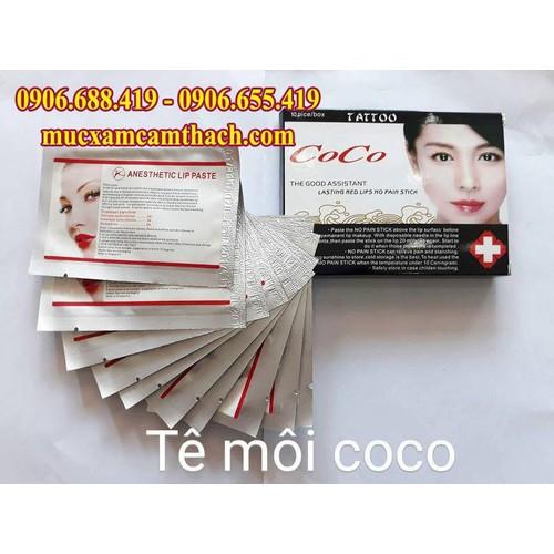 10 miếng tê dán môi Coco