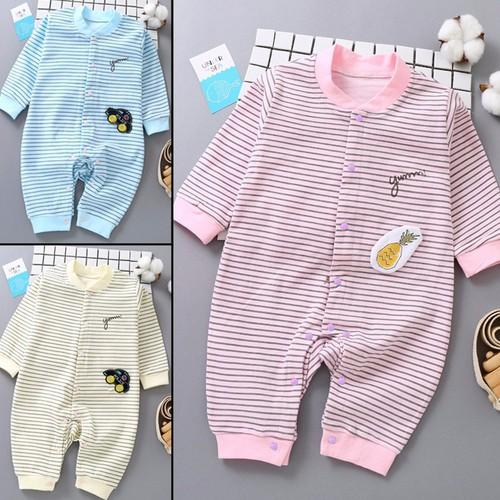 Áo liền quần cho bé sơ sinh chất liệu thun cotton xịn thoáng mát 100
