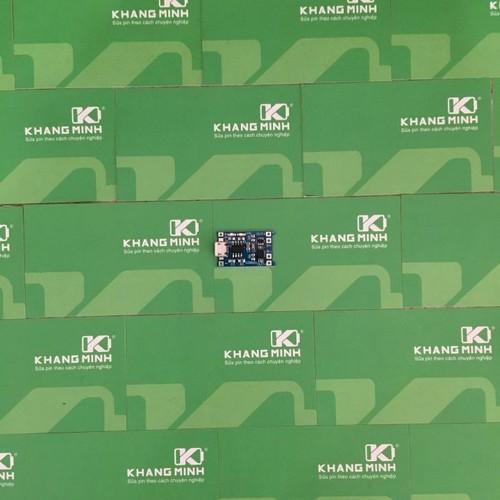 KM Mạch sạc và bảo vệ pin Li-ion 1s 3.7v, cổng sạc micro USB.