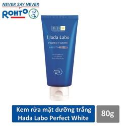 Kem rửa mặt dưỡng trắng Hada Labo Perfect White Cleanser 80g