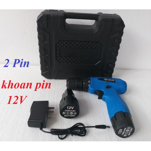 Máy khoan và vặn vít chạy pin 12V - 2 Pin