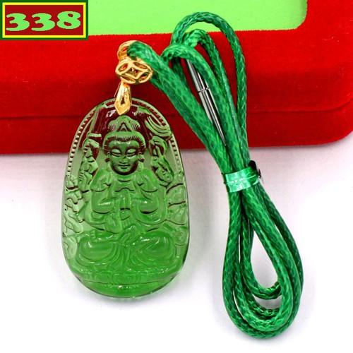 Vòng cổ Thiên Thủ Thiên Nhãn pha lê xanh lá 3 cm DXFBKXL8 - Hộ mệnh người tuổi Tý