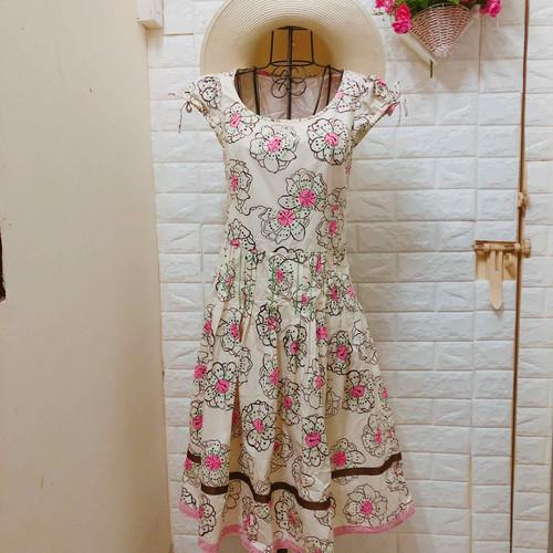 Thanh lí đầm xoè hoa tay búp Korea