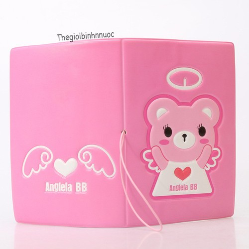 Vỏ Bọc Hộ Chiếu Passport Cover Gấu Hồng Anglela V47