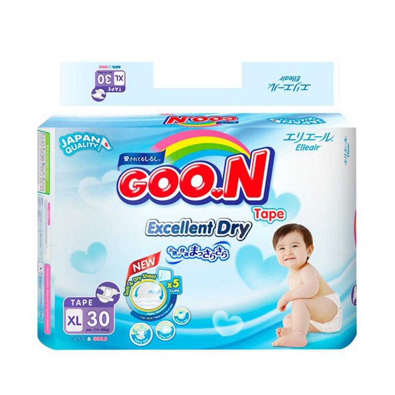 Tã dán Goon Renew L32 - M38 - Slim S44 - XL30 - Newborn 48