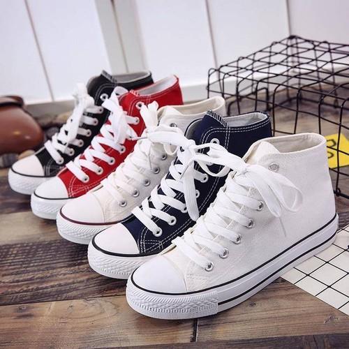 Giày thể thao nữ cao cổ thời trang 3 màu