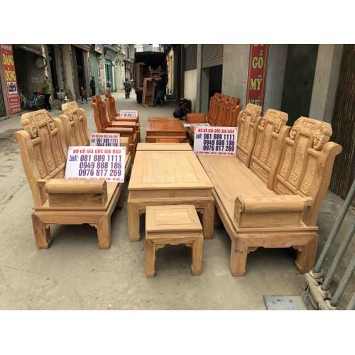 Giá sốc 18tr có ngay bộ bàn ghế mộc chương voi gỗ gõ đỏ